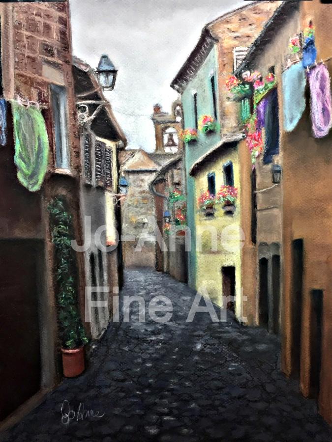 An alley towrd the church