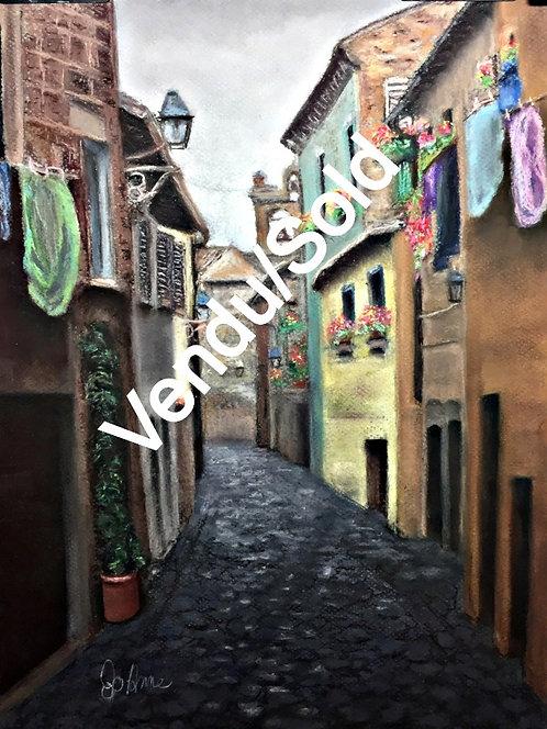 An Alley Towards the Church