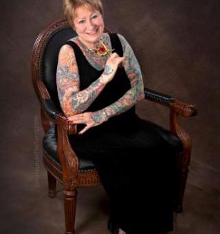 Peggi Hurley creates history at Ancient Art Tattoo in Lewes Delaware