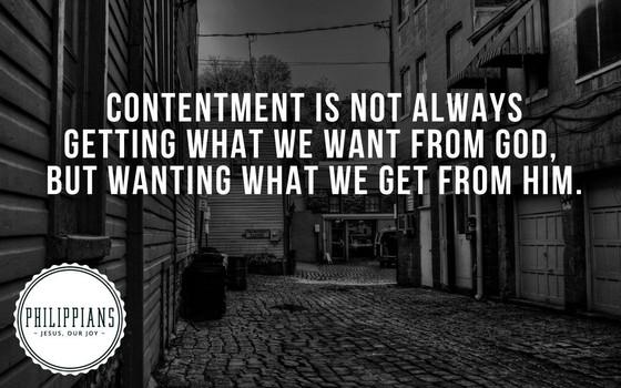 Contentment?