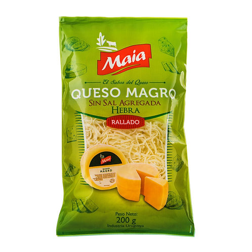 Low-fat free-salt grated cheese thread 200g