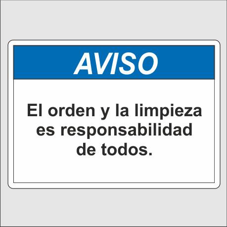 Aviso Orden Y Limpieza Seletrac Uruguay Carteles De