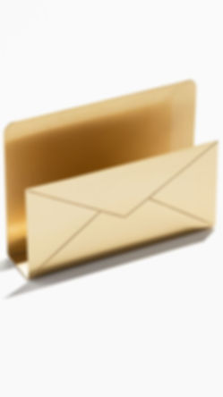 Gold Envelope Filer - Gold - Stationary