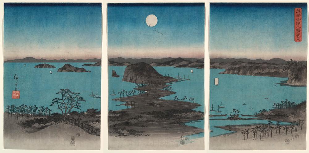 Kanazawa in Moonlight by Utagawa Hiroshige