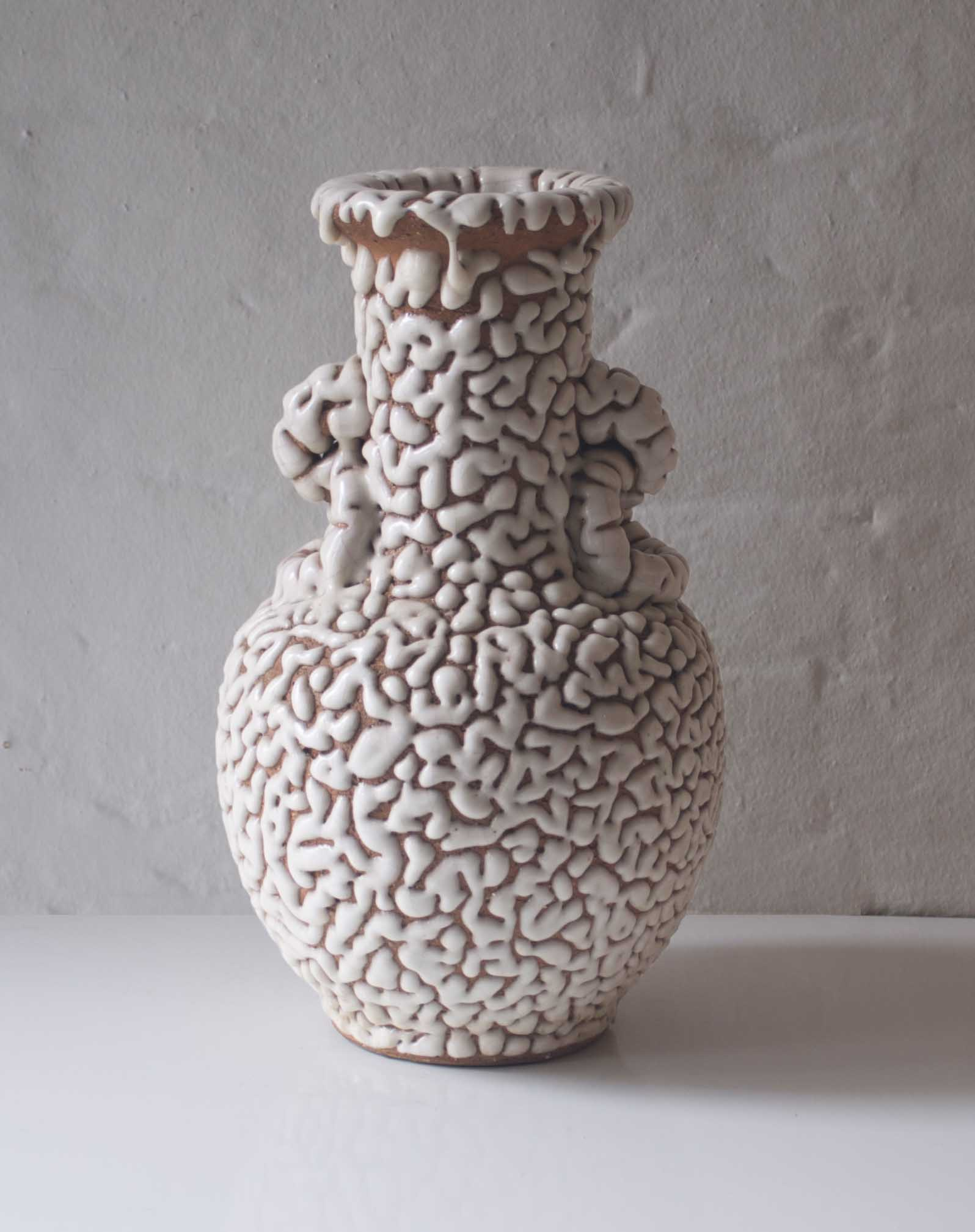 VERMICULATED CRACKLE VASE