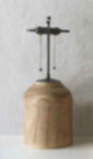 Turned Wood Lamp