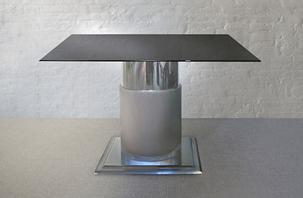 Steel Center Table with Glass Top