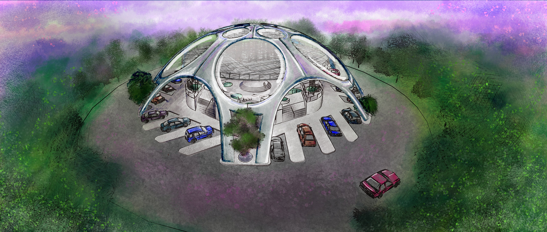 Architectural Concep Rendering of The Bubble