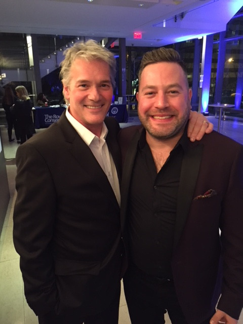 avec Steve Marriner roi de l'harmo aux Maple Blues Awards 2018
