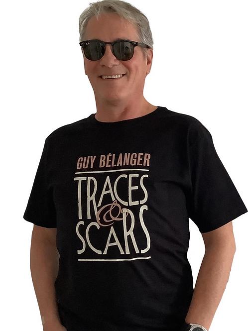 T-Shirt TRACES & SCARS (Homme-Femme) Noir