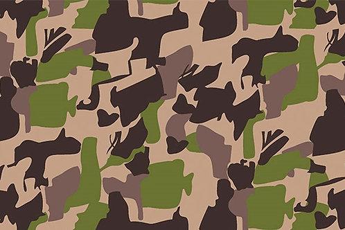Tricoline Camuflado Verde