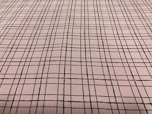 Tricoline Linhas Perpendiculares Rosa Antigo