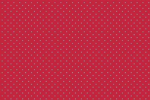 Tricoline Poá Vermelho