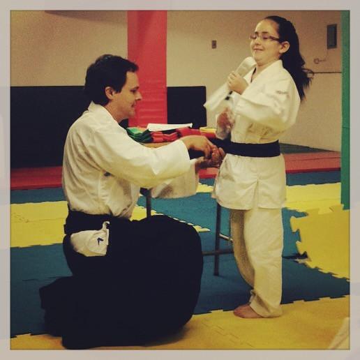 Graduação em Karate - Ana Clara Gremmelmaier