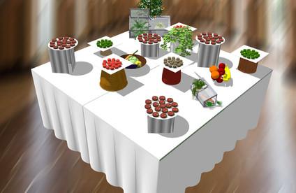 3D présentation d'un buffet