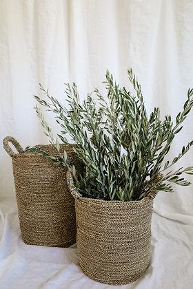 Set of Round Seagrass Baskets
