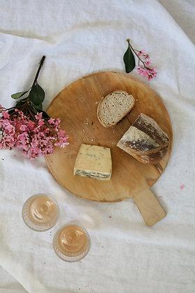 Medium Round Vintage Bread Board