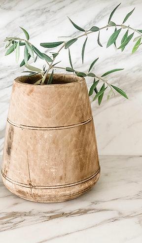 Vintage Wooden Vase (#1)