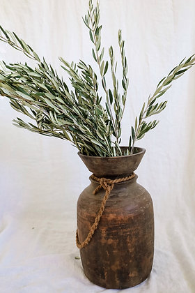 Wooden Vase with Rope