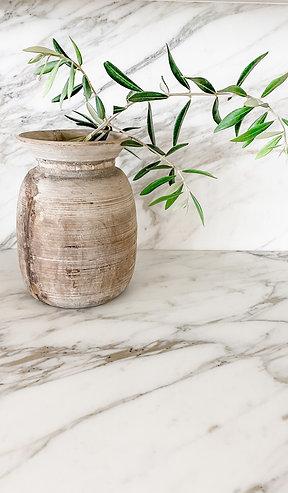 Vintage Wooden Vase (#2)