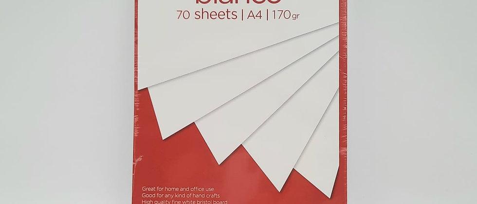 חבילת 70 דפי בריסטול A4