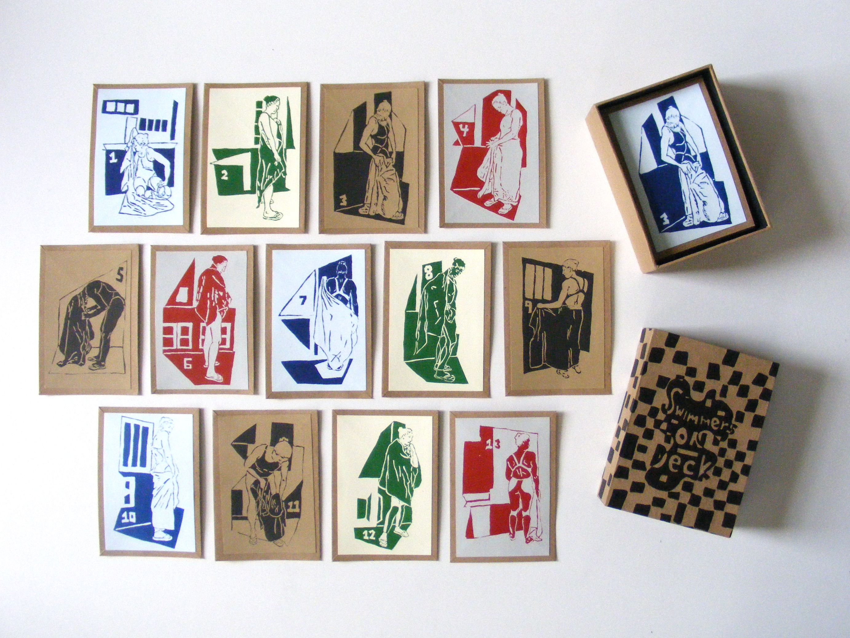 Swimmers on Deck (Playing Card Set)