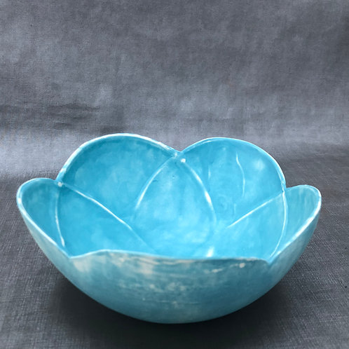Light Blue Flower Bowl