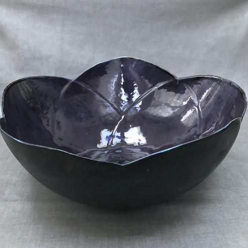 Large Purple Flower Bowl