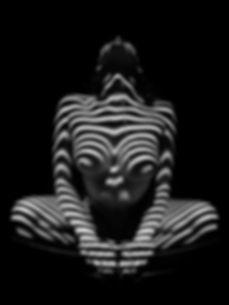 1152-zebra-woman-stripe-series-chris-mah