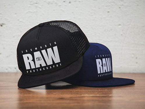 Raw 5-Panel Snapback Trucker Hat