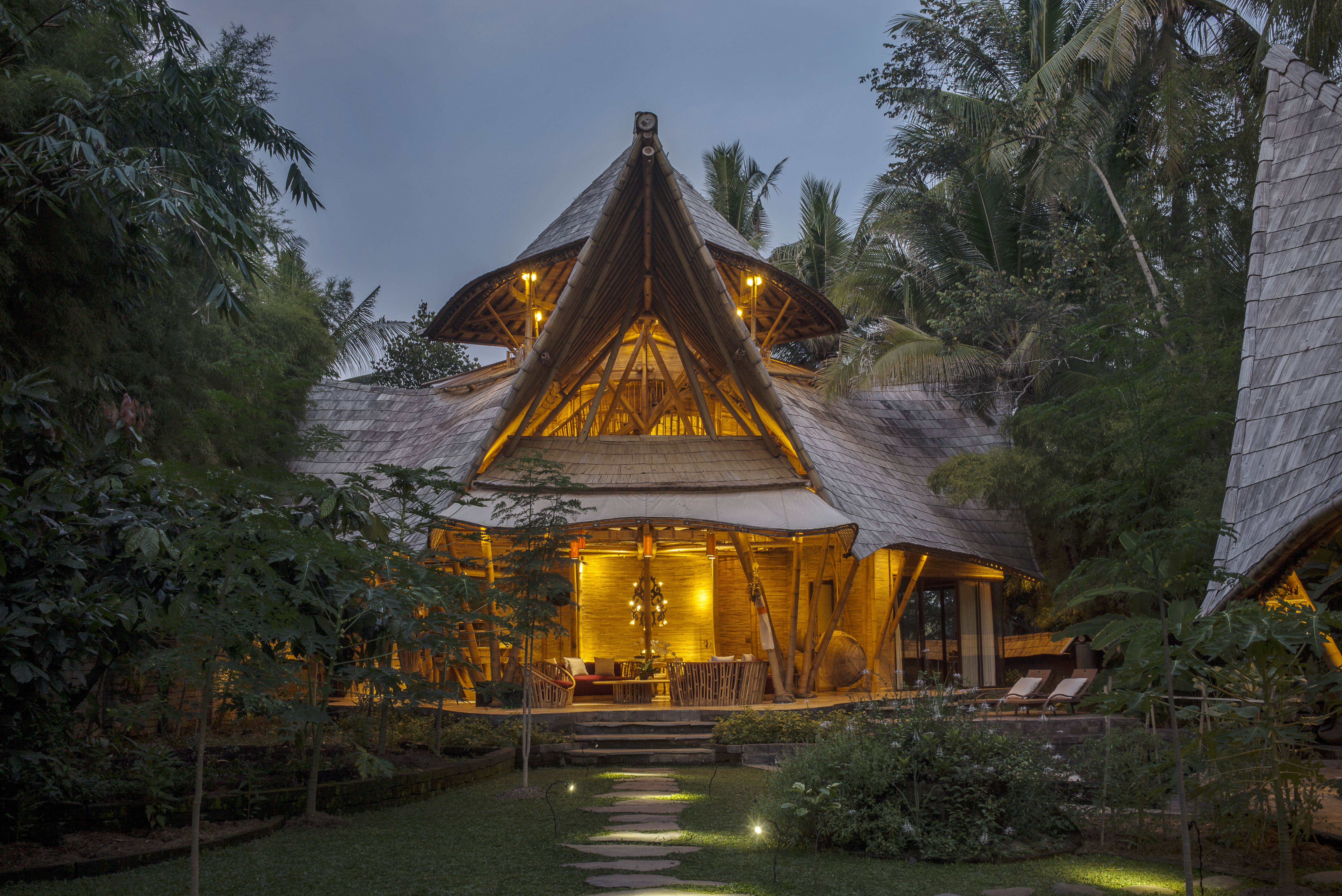 Cacao House at Night