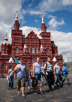 Sailors March On Red Square