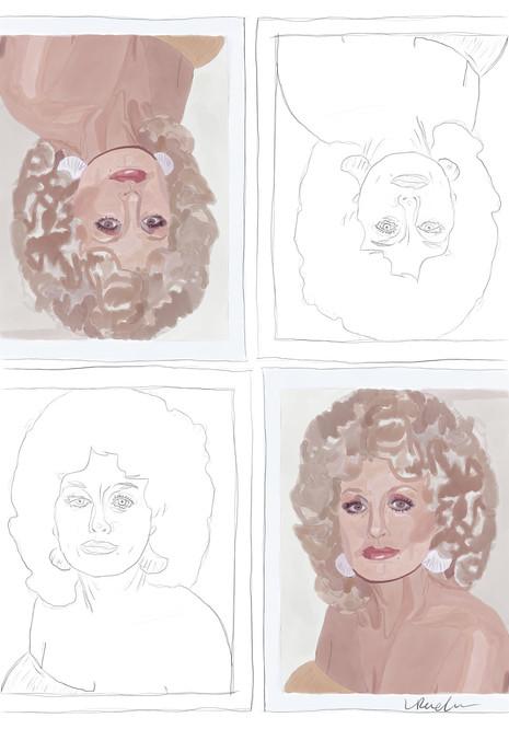 Dolly Parton Andy Warhol Polaroid (2019)