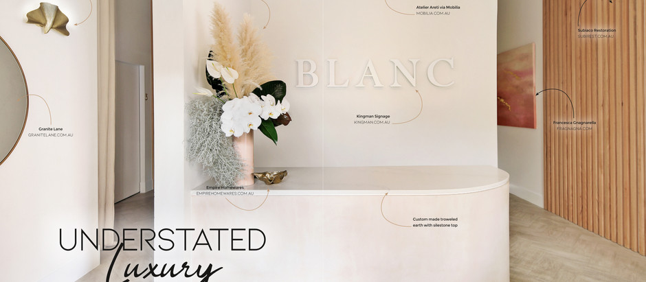 Blanc featured in Spa & Clinic Magazine