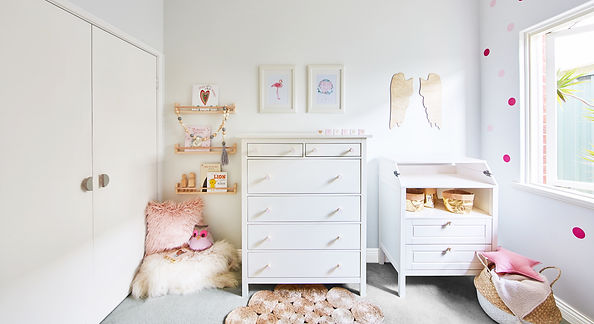 Interior styling of a little girls nursery using mostly Arstralian made items