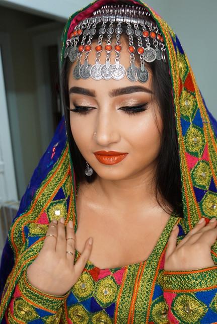afghan bridal makeup look by marrakech bridal makeup artist haley navarro