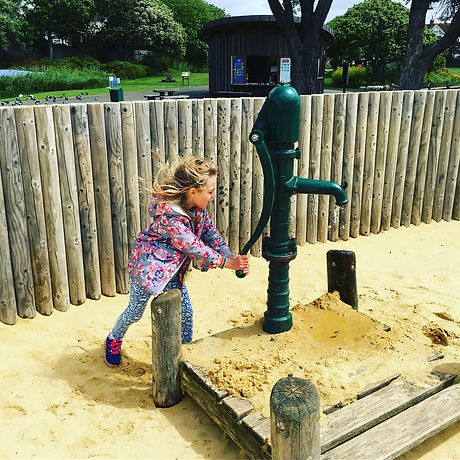 Great park. Sand play. Adventure playground. Bexhill, East Sussex. Seafront. Free fun with the children.