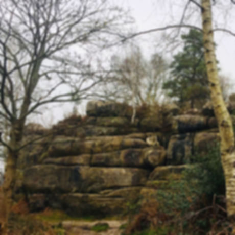 Sandstone rocks. Walks with the kids. Rock climbing. Free activities. Family fun.