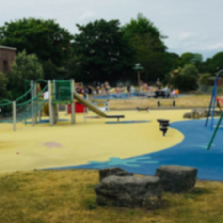 Free activities for children and families paddling pool and playground. Eastbourne East Sussex