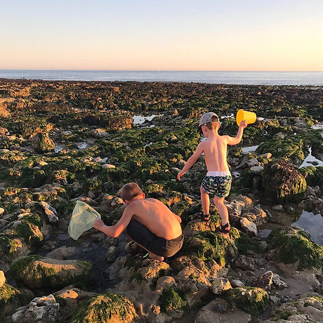 Free family day out near Eastbourne East Sussex. Birling Gap coastal walk, rock pooling, picnic, lighthouse, National Trust