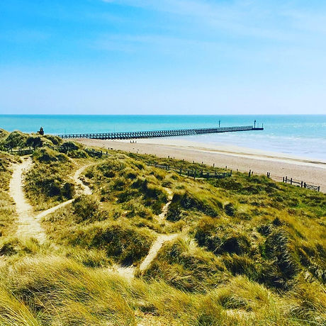 Sandy beach and dunes Littlehampton West Sussex. Free family days out