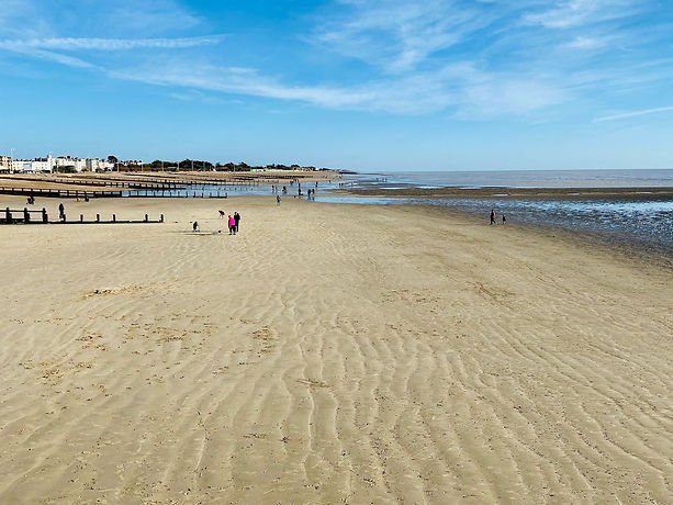 Littlehampton East Beach and harbour; great place to visit in Sussex with kids
