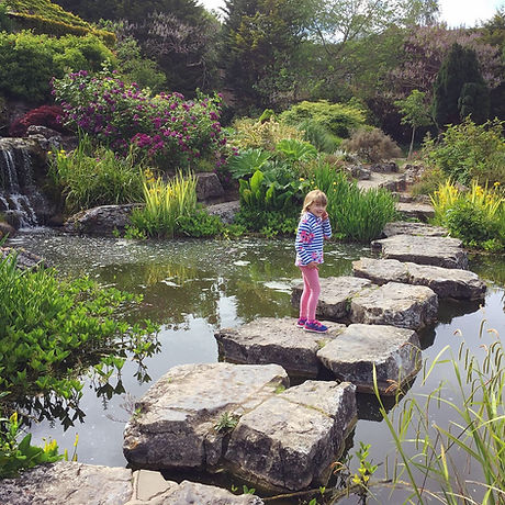 Rock garden. City park. Free fun with the kids. Picnic.