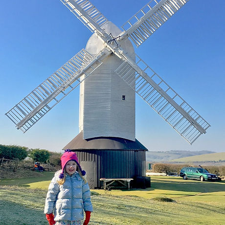 Free family adventure Sussex windmills and mud-free walk on the South Downs