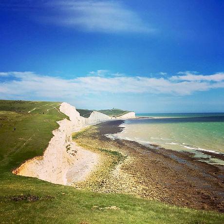 Coastal walk. Free family fun. White cliffs. National Trust. Child friendly walk