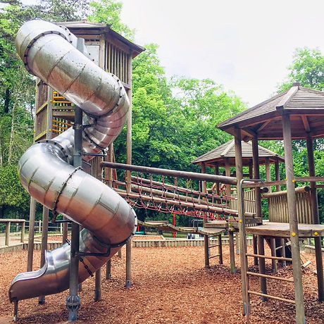 Free day out with the family. Crawley West Sussex. Tilgate Park. Adventure playground. Meet the animals. Walking and cycle trails.