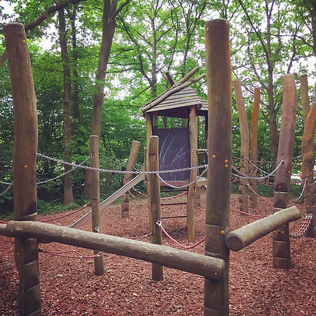 Forest walk and trail. Free family fun. Adventure playground East Grinstead Sussex. Ashplats wood. East Court.