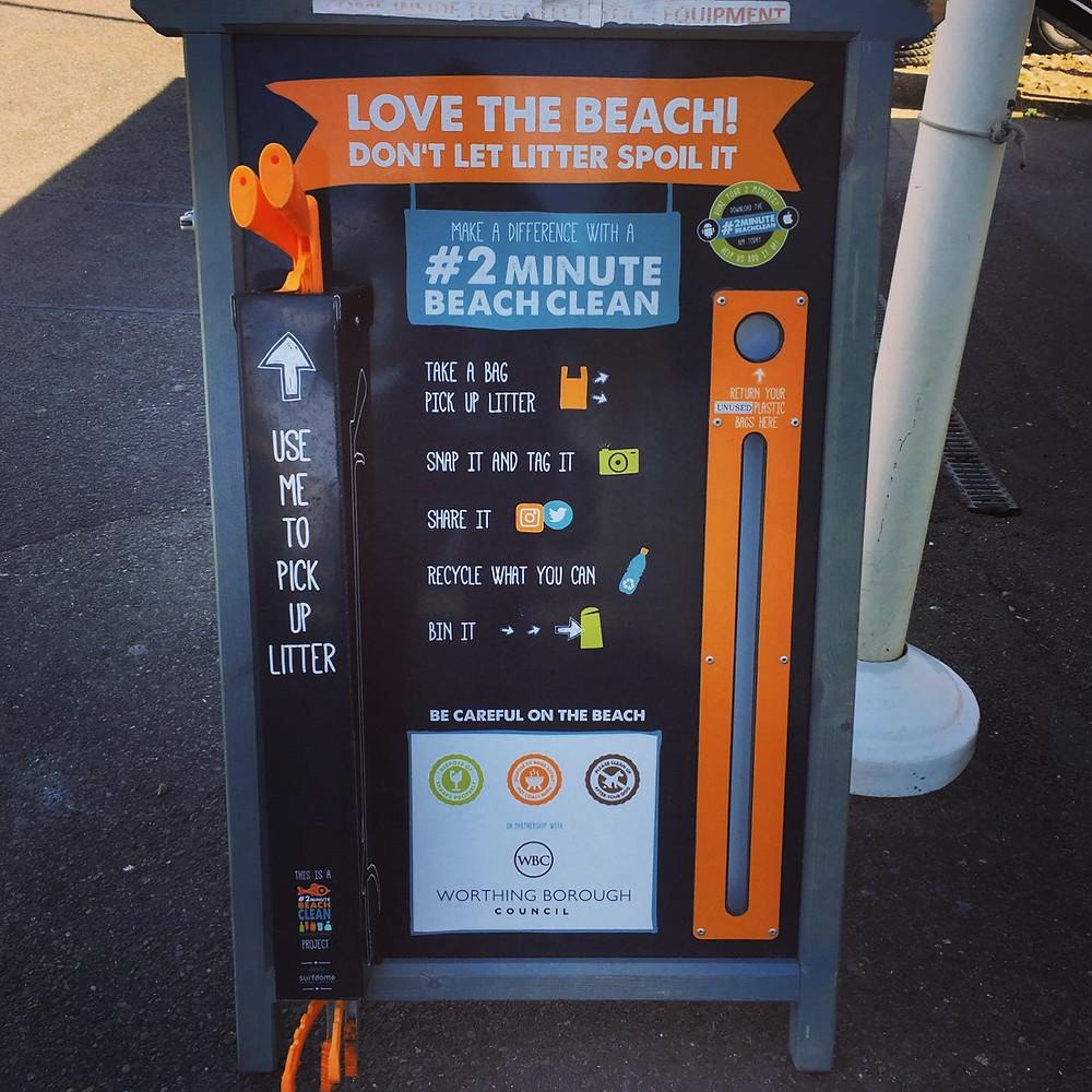 Beach Clean, Worthing Beach