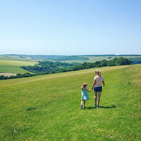 South Downs walking. Free family fun. Eastbourne East Sussex. Picnic spot. Fly a kite