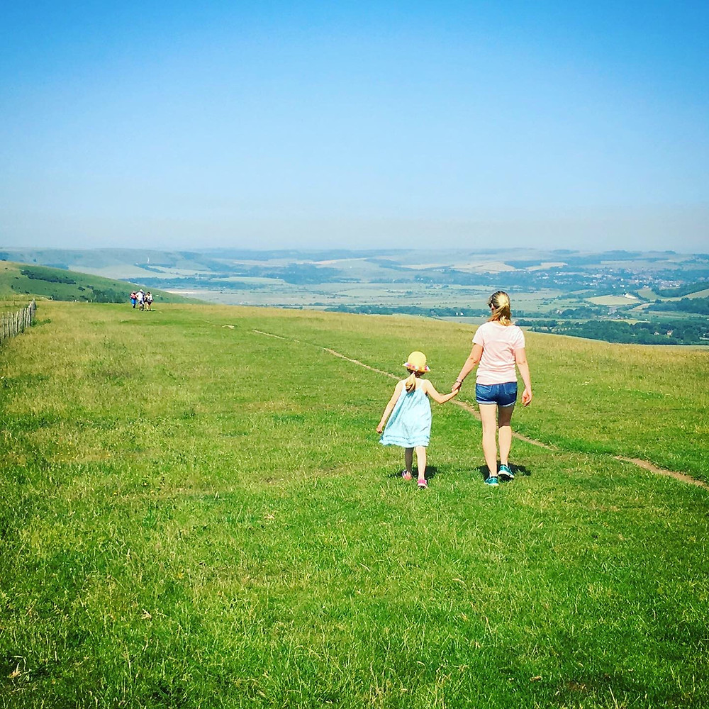 Sussex for kids at Firle Beacon